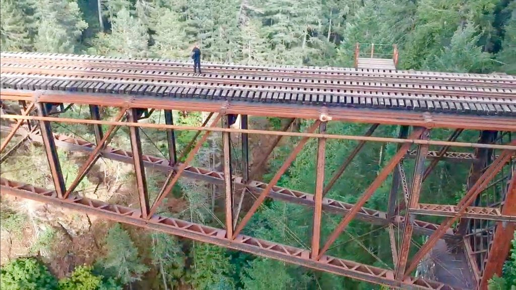 Erinn Weatherbie Goldstream Trestle BC