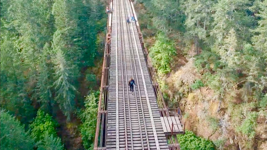 Goldstream Trestle Kelly Childs and Erinn Weatherbie