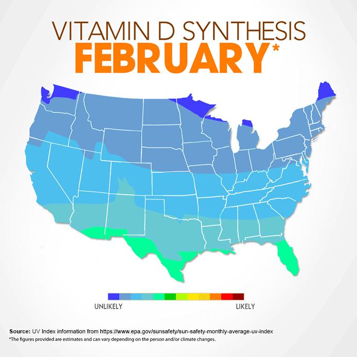 Map Of Vitamin D